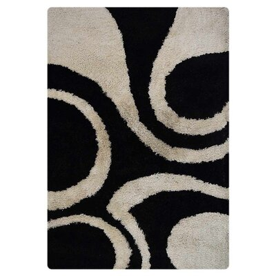 Ry Hand Tufted Black/White Indoor/Outdoor Area Rug