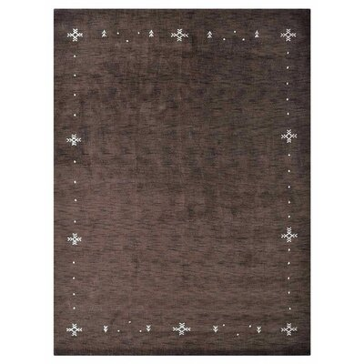 Maggiemae Hand-Woven Wool Brown Area Rug Rug Size: Rectangle�3 x 5