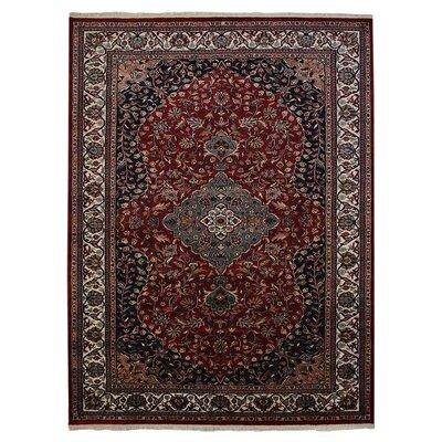 Shephard Hand Knotted Persian Rectangle Wool Red Area Rug