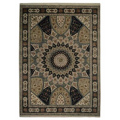 Marathon Hand Knotted Persian Wool BlueWhite Area Rug