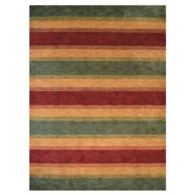 Kenyon Hand-Knotted Wool Green/Gold Area Rug Rug Size: 8 x 10
