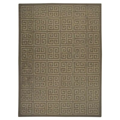 Ry Flat Hand Knotted Wool Cream/Silver Area Rug