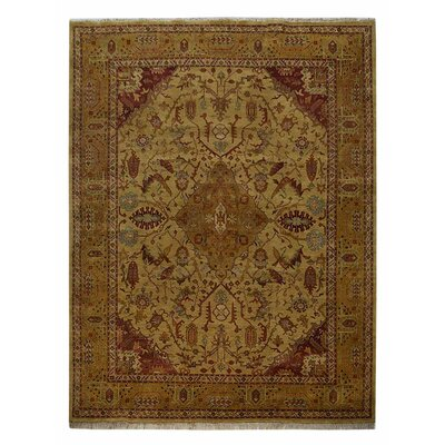 Shephard Hand-Knotted Wool Gold Area Rug