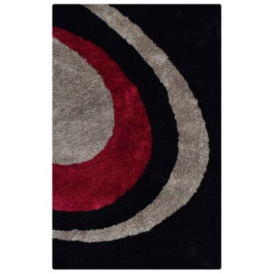 Ry Hand-Tufted Black/Pink Indoor/Outdoor Area Rug