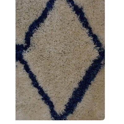 Ry Hand-Tufted Bown/Blue Indoor/Outdoor Area Rug