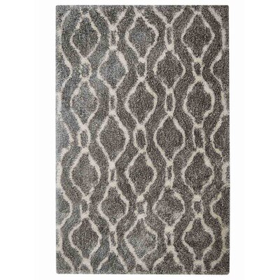 Ry Hand-Woven Gray/White Indoor/Outdoor Area Rug Rug Size: Rectangle�5 x 8