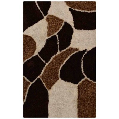 Ry Hand Tufted BrownWhite Area Rug