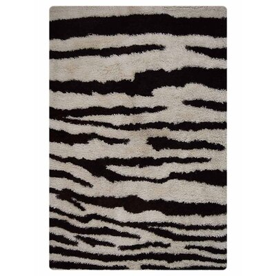 Marathon Hand-Woven Black/White Indoor/Outdoor Area Rug Rug Size: Rectangle�4 x 6