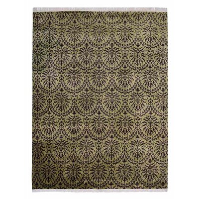 Marathon Hand Knotted Wool Green Area Rug