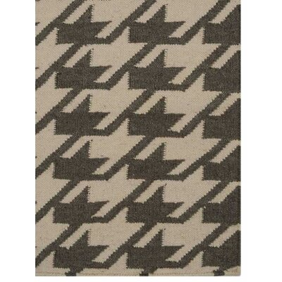 Ry Hand Knotted Dvina Wool Cream/Green Area Rug Rug Size: 3 x 5