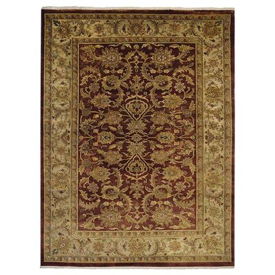 Shephard Hand Knotted Persian Wool RustCream Area Rug