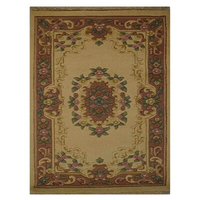 Shephard Hand Knotted Aras Rectangle Wool IvoryBlue Area Rug