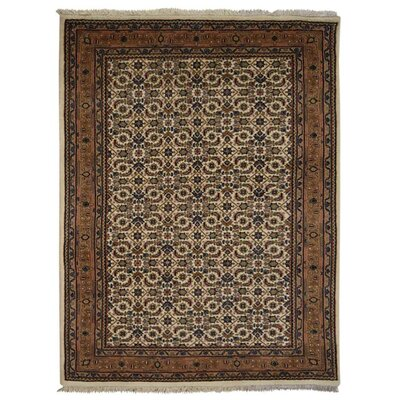 Marathon Hand Knotted Nir Rectangle Wool Cream Area Rug Rug Size: 54 x 710