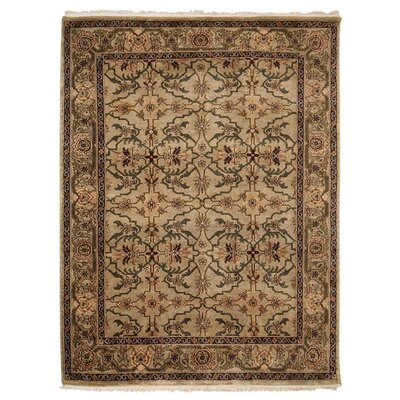 Shephard Hand Knotted Nir Rectangle Wool Cream Area Rug Rug Size: 5 x 7