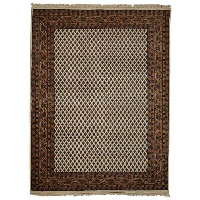 Marathon Hand-Woven Wool Brown Area Rug Rug Size: Rectangle�4 x 6