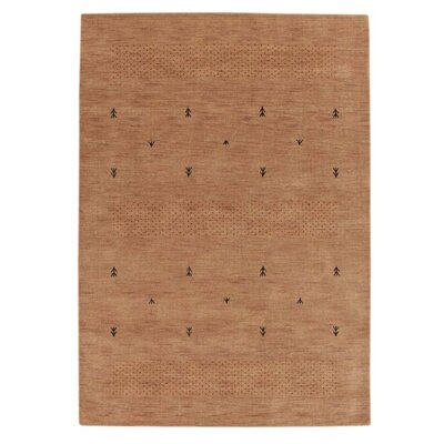 Maggiemae Hand Knotted Loom Wool Beige Area Rug Rug Size: 6 x 9