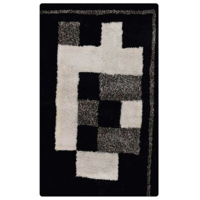 Ry Hand Tufted BlackBeige Area Rug Rug Size: 8 x 10