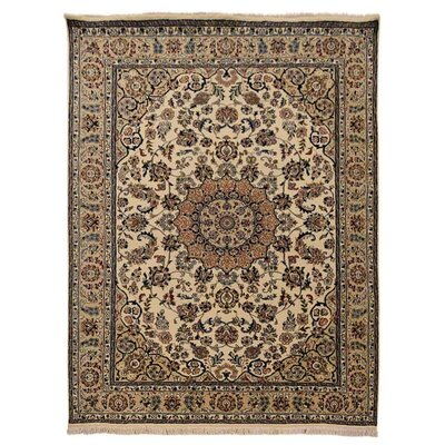 Shephard Hand Knotted Isfahan Rectangle Wool Cream Area Rug Rug Size: 8 x 10
