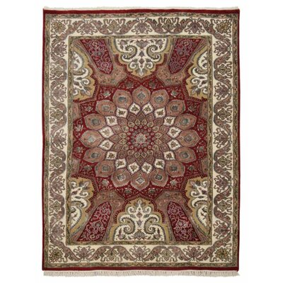 Shephard Hand Knotted Isfahan Wool Red Area Rug Rug Size: 54 x 710