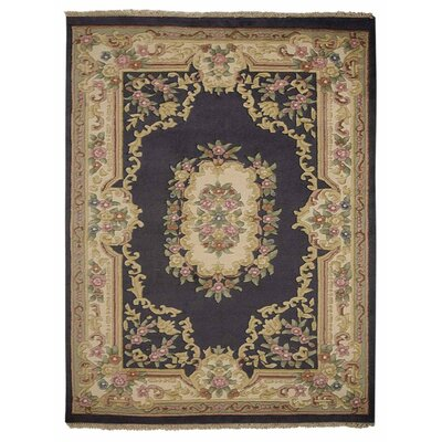 Shephard Hand Knotted Aras Wool Light Blue Area Rug Rug Size: 64 x 97