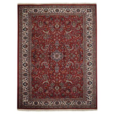 Shephard Hand Knotted Persian Wool Red Area Rug Rug Size: 83 x 116
