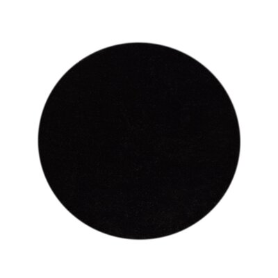 Ry Hand-Woven Black Indoor/Outdoor Area Rug Rug Size: Round 8