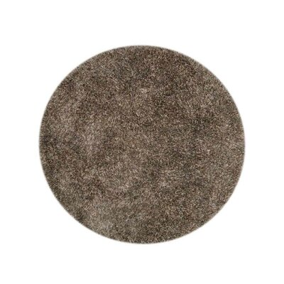 Sanford Solid Hand-Woven Brown Area Rug Rug Size: Round 8
