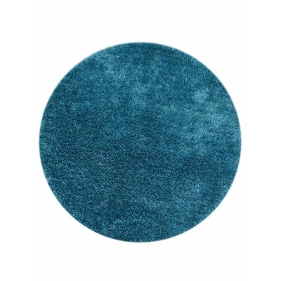 Ry Hand-Tufted Aqua Indoor/Outdoor Area Rug Rug Size: Round 8