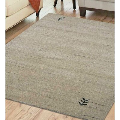 Maggiemae Hand-Woven Wool Beige Area Rug Rug Size: Rectangle 6 x 9