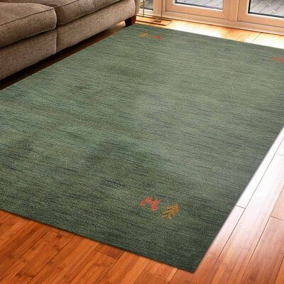 Maggiemae Hand-Woven Wool Green Area Rug Rug Size: Rectangle 5 x 8