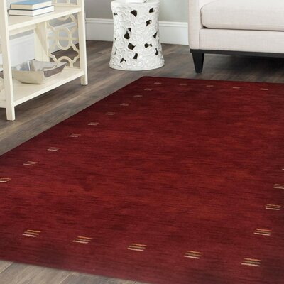 Ry Ceniceros Hand-Woven Wool Red Area Rug Rug Size: Rectangle 8 x 10