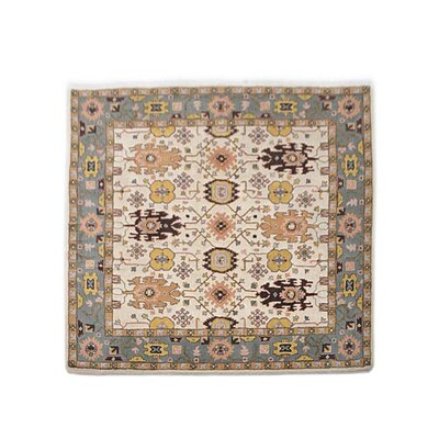 Vargas Vintage Hand Tufted Wool Cream/Gray Area Rug
