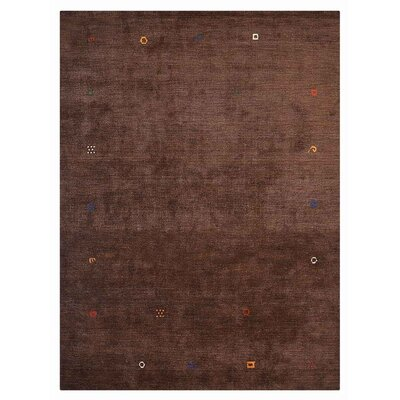 Clayera Hand-Knotted Wool Brown Area Rug