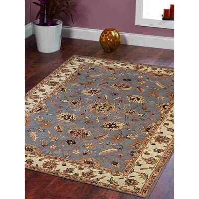 Watkins Vintage Hand Tufted Wool Blue/Brown/Beige Area Rug