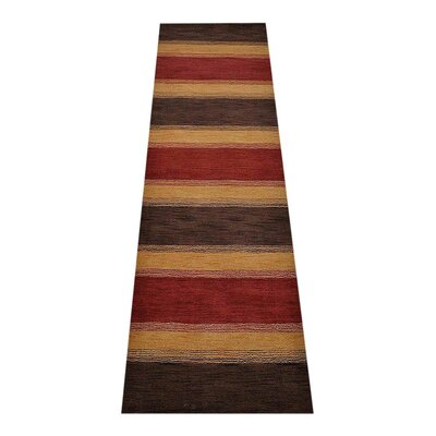Avendano Loom Hand Knotted Wool Red/Gold/Brown Area Rug