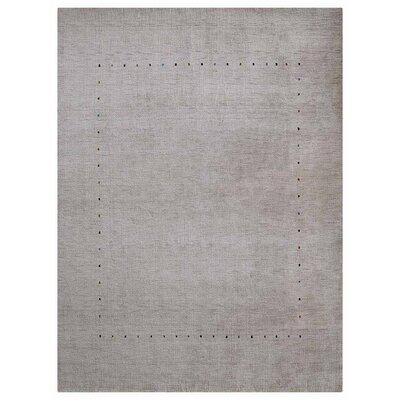 Gambill Loom Hand Knotted Wool Gray Area Rug