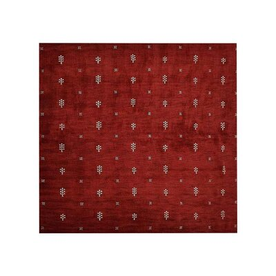 Munoz Loom Hand Knotted Wool Red Area Rug