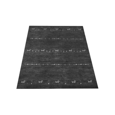 Allensby Loom Hand Knotted Wool Charcoal Area Rug