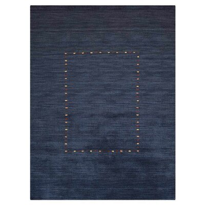 Colton Bluff Hand-Woven Wool Blue Area Rug Rug Size: Rectangle 67 x 910