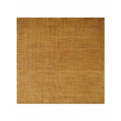 Tieast Hand-Knotted Wool Gold Area Rug