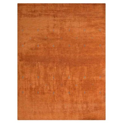Mcgrath Loom Hand-Woven Wool Orange Area Rug Rug Size: Rectangle 8 x 11