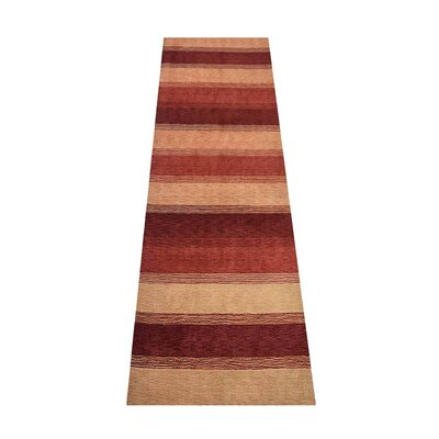 Avey Loom Hand-Knotted Wool Beige/Brown Area Rug