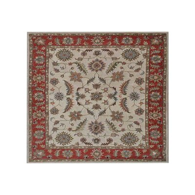 Bowman Vintage Hand Tufted Wool Beige/Red Area Rug