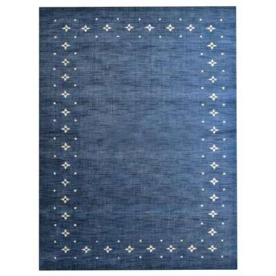 Soto Loom Hand Knotted Wool Blue Area Rug