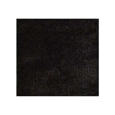 Sanford Solid Hand-Woven Silver/Black Area Rug Rug Size: Square�8