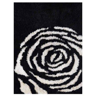 Birmingham Shag Hand-Tufted Black/White Area Rug