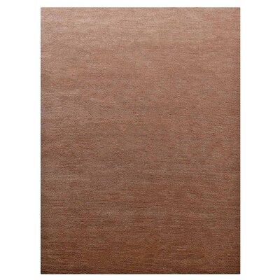 Yesica Hand-Woven Wool Light Brown Area Rug Rug Size: Rectangle 6 x 9