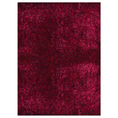 Amici Hand Tufted Red/Black Area Rug Rug Size: 10 x 13