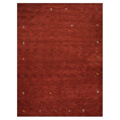 Matthews Loom Hand-Woven Wool Red Area Rug Rug Size: Rectangle 5 x 8