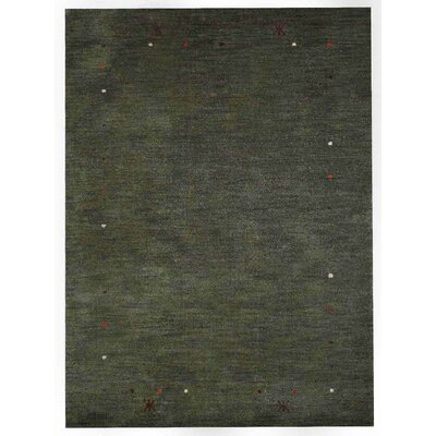 Columbia Gorge Hand-Knotted Wool Green Area Rug